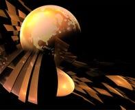 earth pealing Arkivfoton