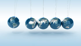 Earth pendulum Royalty Free Stock Image