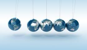 Earth pendulum vector illustration