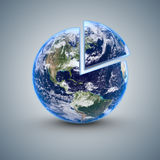 Earth 80 percent Stock Image