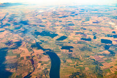 Earth Photo From 10.000m Above Ground Stock Image