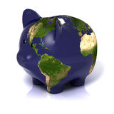 Earth in a piggy bank form Royalty Free Stock Photography