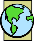 Earth planet. Illustration of the planet earth Stock Image