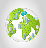 Earth planet Stock Image