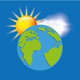 earth planet climate design Royalty Free Stock Image