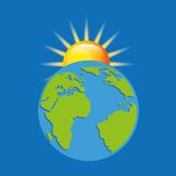 earth planet climate design Royalty Free Stock Photography