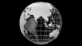 Earth planet 3D rotating globe alpha channel stock video