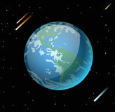 Earth planet 3d vector illustration Royalty Free Stock Photo