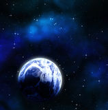 Earth planet in deep outer space Royalty Free Stock Photography