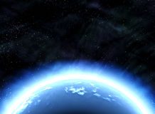 Earth planet in deep outer space Royalty Free Stock Image