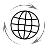 Earth Planet Design Vector Icon. Vector illustration Stock Photography