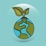 Earth planet design. Illustration eps10 graphic Stock Image