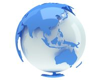 Earth planet globe. 3D render. China view. Royalty Free Stock Images
