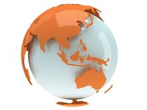 Earth planet globe. 3D render. China view. Royalty Free Stock Photography