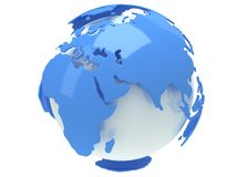 Earth planet globe. 3D render. India view. Stock Photos