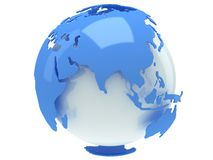 Earth planet globe. 3D render. India view. Royalty Free Stock Photo