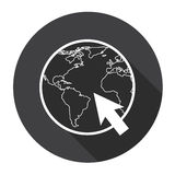Earth Planet Globe Arrow Computer Icon Search Royalty Free Stock Photo