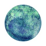 Earth planet globe watercolor isolated. Earth planet globe blue green watercolor isolated on white background. Watercolour hand drawn globe illustration Royalty Free Illustration
