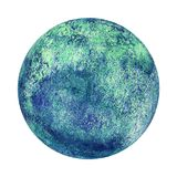 Earth planet globe watercolor isolated. Earth planet globe blue green watercolor isolated on white background. Watercolour hand drawn globe illustration Vector Illustration