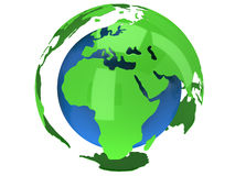 Earth planet globe. 3D render. Africa view. Stock Photo