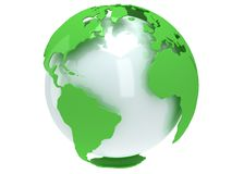 Earth planet globe. 3D render. America view. Royalty Free Stock Photography