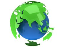 Earth planet globe. 3D render. India view. Royalty Free Stock Image