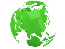 Earth planet globe. 3D render. Russia view. Royalty Free Stock Photos