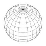 Earth planet globe grid of meridians and parallels, or latitude and longitude. 3D vector illustration.  vector illustration