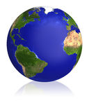 Earth planet globe map. Stock Photos