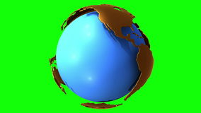 Earth planet globe rotates stock footage