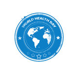 Earth Planet Health World Day Global Holiday Stamp Royalty Free Stock Photos