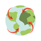 Earth planet icon royalty free illustration