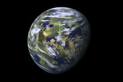 Earth planet, II Stock Photo