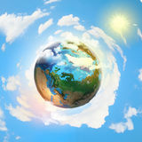 Earth planet. Image of earth planet. Elements of this image are furnished by NASA Royalty Free Stock Photography