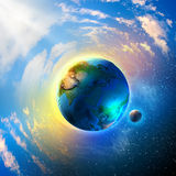 Earth planet. Image of earth planet. Elements of this image are furnished by NASA stock images