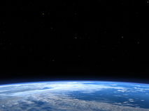 Earth Planet Outer Space Background Stock Photos