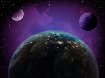 Earth and Planet outer Space Royalty Free Stock Photo