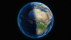 Earth planet overall view stock illustration