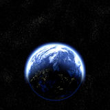 Earth planet in space royalty free illustration