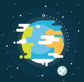 Earth planet in space Royalty Free Stock Images