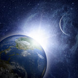 Earth planet in space. Royalty Free Stock Photos