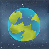 Earth planet on a starry sky background. Royalty Free Stock Photos