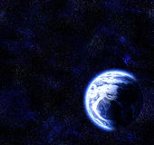 Earth planet stars in deep space Royalty Free Stock Photography