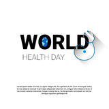 Earth Planet Stethoscope Health World Day Global Holiday Banner With Copy Space Royalty Free Stock Photo