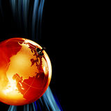 Earth planet,Transparent globe for background Royalty Free Stock Photo