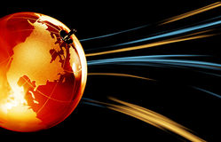 Earth planet,Transparent globe for background Stock Photo