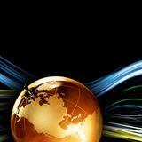 Earth planet,Transparent globe for background Stock Images