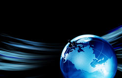 Earth planet,Transparent globe for background Stock Image