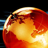 Earth planet,Transparent globe for background Stock Photography