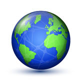Earth planet. World Map Royalty Free Stock Image